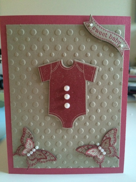 Stamping' Up!  Baby shower card