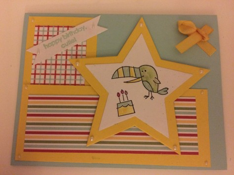 stars stamping up birthday card