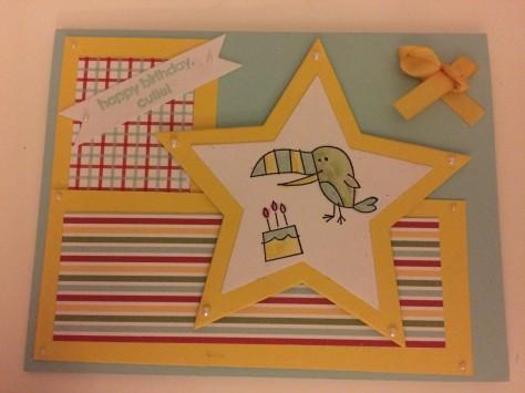 stars stamping up birthday card