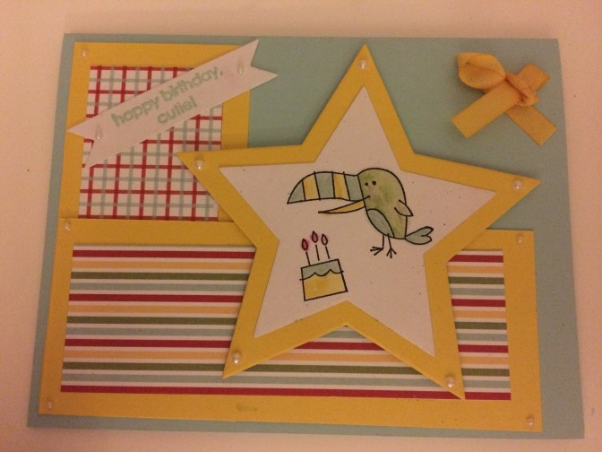 Birthday card for a 2 year old.