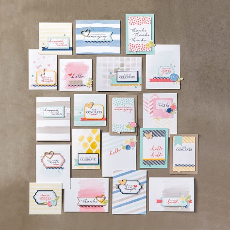 Stampin up Watercolor Wishes