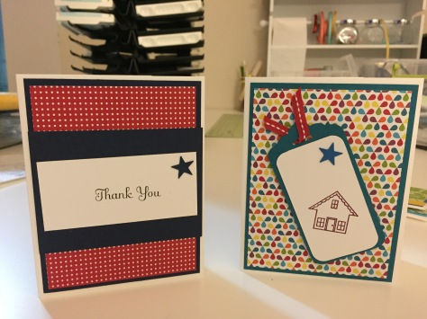 Stampin Up thank you card new house card
