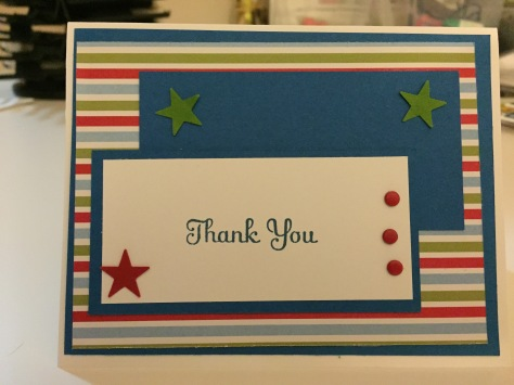 Stampin Up thank you card