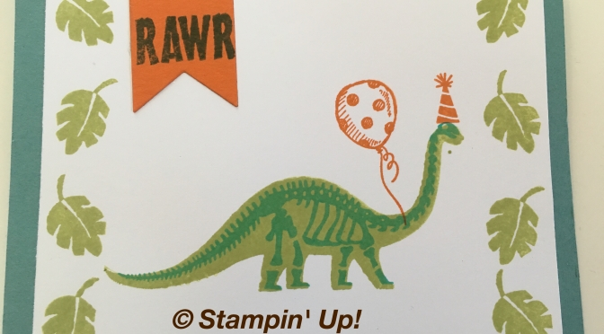 Dino-riffic Birthday card