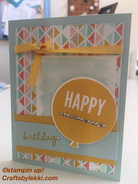 Stampin up celebrate today soft sky crushed curry
